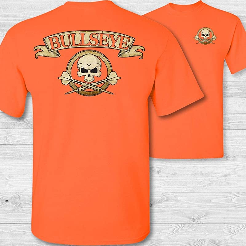 Mens Golfer Skull /& Crossbones Badge Short Sleeve Tee Shirt