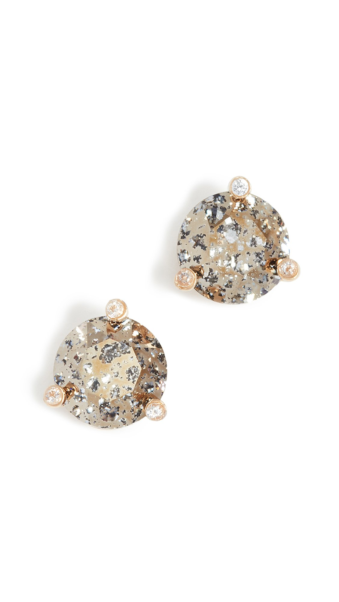 kate spade new york Small Studs Gold Patina Stud Earrings