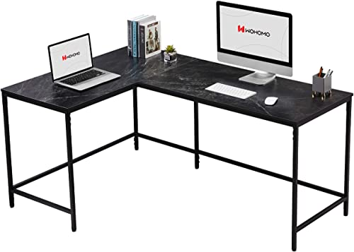 WOHOMO Computer Corner Desk L Shaped Desk Large Home Office Desk Modern Simple Study Writing Table Easy Assembly