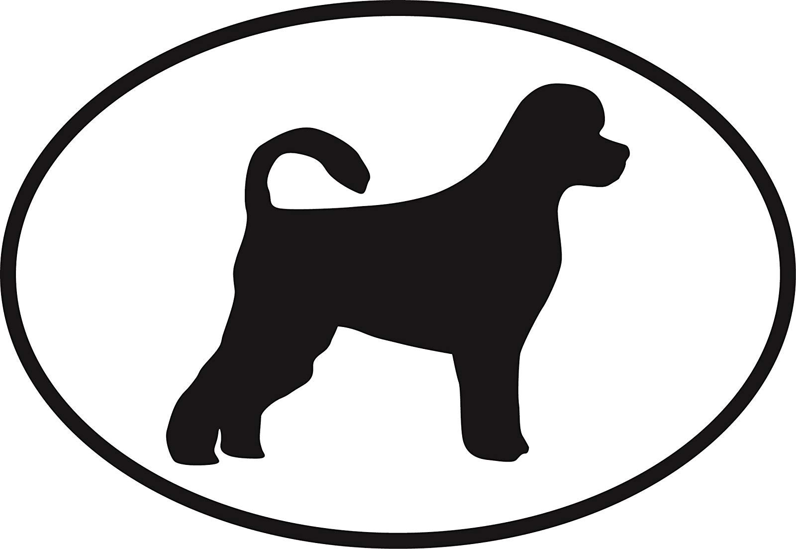 "Vinyl Overlays 720 Magnet Portuguese Water Dog Euro Oval Bumper Magnetic Sticker 5"" 1"