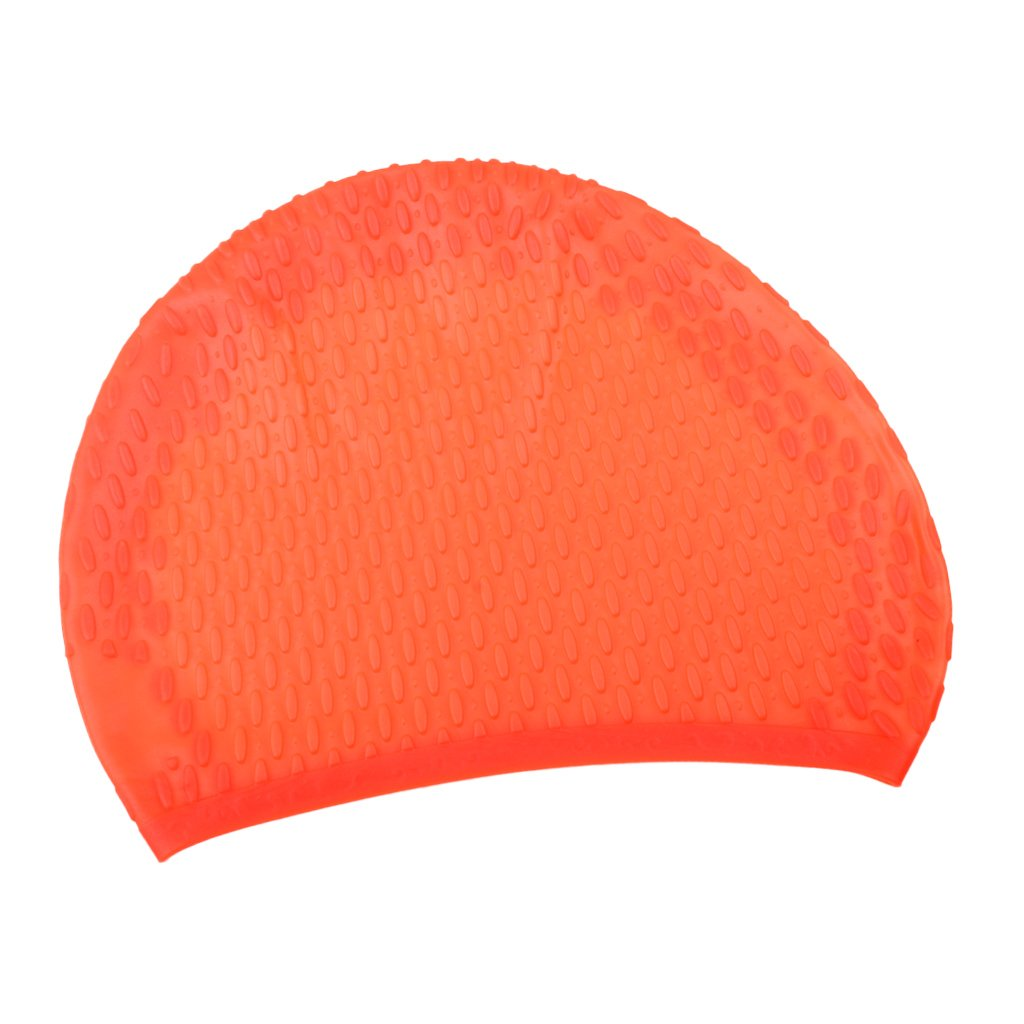 CUTICATE Adult Sports Silicone Textured Bubble Swim Cap Swimming Pool Hat