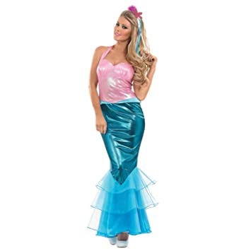 Fun Shack Azul Sirena Disfraz para Mujeres - M: Amazon.es ...