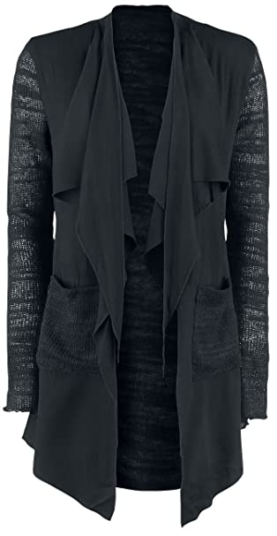 Forplay Material Mix Cardigan Cardigan chica Negro 4pkHqlzUOU