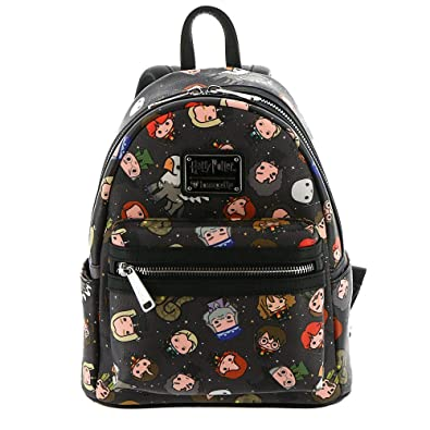 d56a8a41db2b Amazon.com  Loungefly Harry Potter Character All Over Print Mini Backpack   Shoes