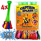 Water Balloons by Captain Splash - Fill A Big Bunch Of 148 Water Balloons Per Minute Super Fast And Easy - Self Sealing, No Tie, Biodegradable - Hose Attachment Filler - Easy For Children To Use - Product Guarantee