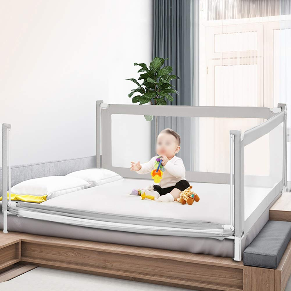 Bed Guardrail Adjustable Toddler, Vertical Lifting Bedside Anti Rollover Bed Rail for Full Size Queen, Extra Tall Portable (Size : 200cm) by Bed Guardrail (Image #3)