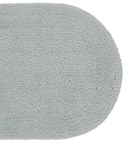 Hochwertiger Badteppich Badvorleger Nicol Duo Cotton 75x140 Silber