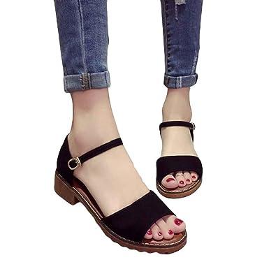 0ff0ad7f433a44 ✿luoluoluo✿ Femmes éTé Lady Sandales Chaussures Plates Douces  Plage