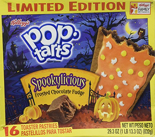 Kellogg's Frosted Chocolate Fudge Spookylicious Pop Tarts Limited Editon 16 Count Box
