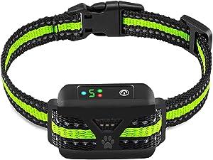 AHJDL Dog Bark Collar 7 Adjustable Sensitivity and Intensity Levels-Triple Anti-Barking Modes Rechargeable Rainproof Reflective -No Barking Control Dog Collar for Small Medium Large Dogs