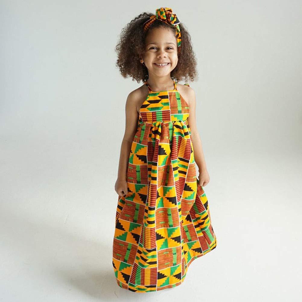 Amazon.com: YOUNGER TREE Vestidos africanos para niñas niños ...