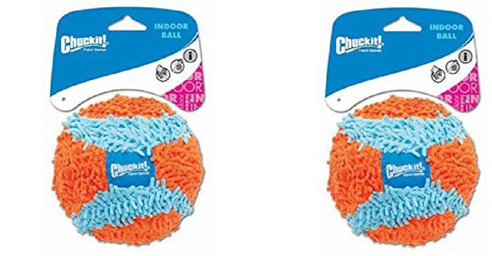 Petmate 213201 4.6'' Medium Orange/Blue Chuckit!® Indoor Ball