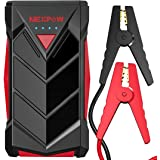 NEXPOW Car Battery Starter, 1000A Peak 12V Car Battery Jump Starter Power Pack with USB Quick Charge (Up to 7L Gas or 5…