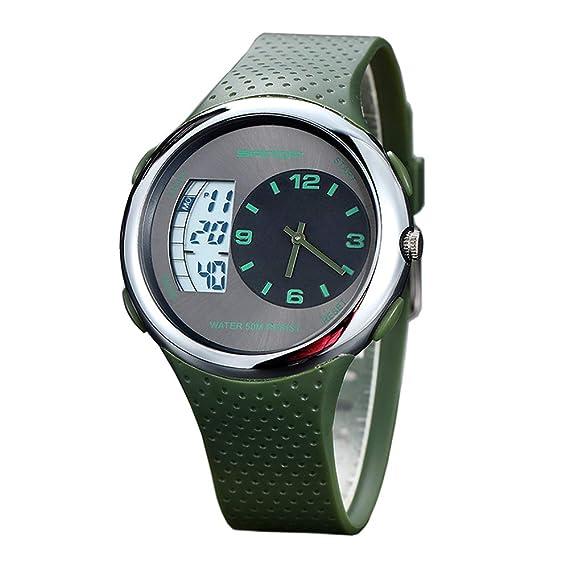 Relojes Pulsera 6 Estilos Diferentes Funciones Analógico Digital Relojes Calendario Alarma LED Dual Time Hombre Chico Deportivo