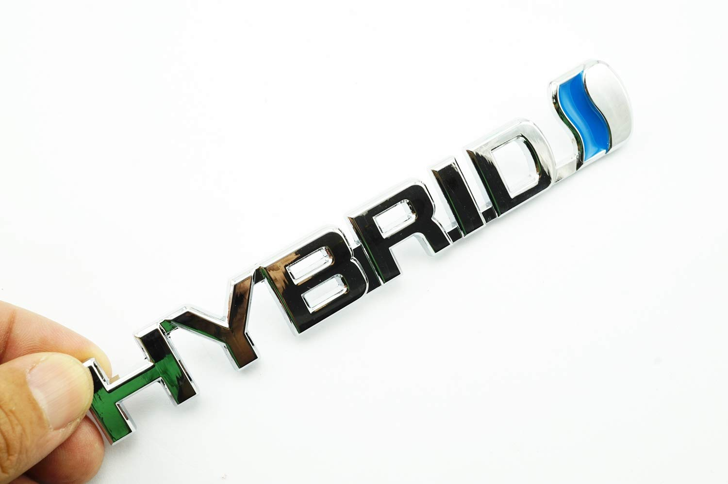 PB-Autoparts HYBRID Chrome Metal Logo Emblem Badge 3D Sticker Size 15.0x2.0cm