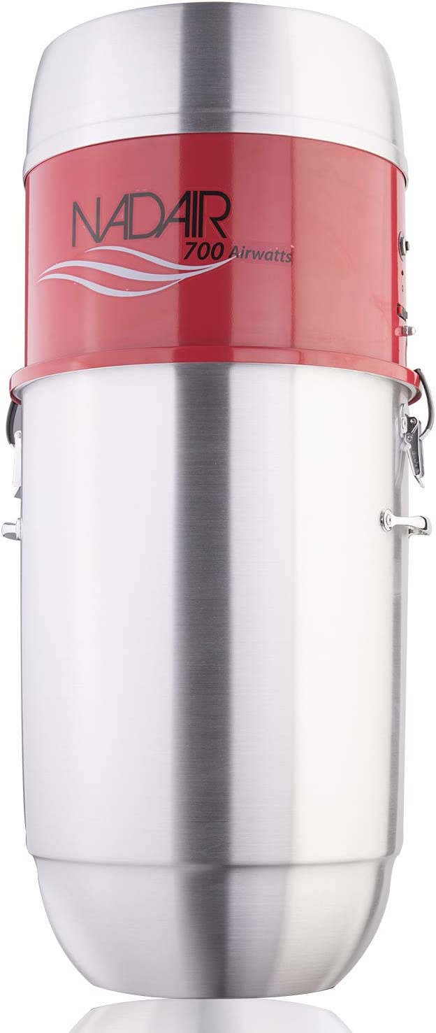 Nadair Heavy Duty 700 AW, Central Vacuum System, Hybrid Filtration (with or Without Disposable Bags), 32L or 8.5Gal, Spun Aluminum
