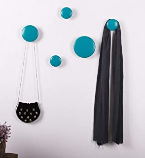 Vaukura Percheros de Pared Dots - Percheros de Madera (Nogal ...
