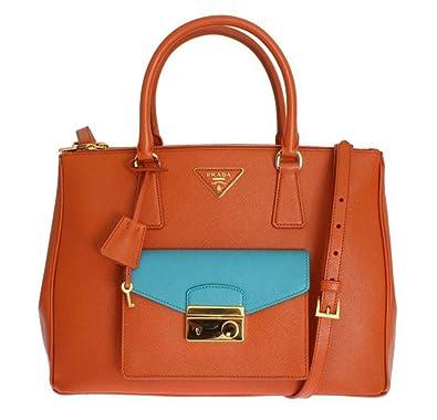 2b348cfa6ffd0 Prada Saffiano Lux - BN2674 - Damen Tasche - Orange - Saffiano Leder -BxHxT  (