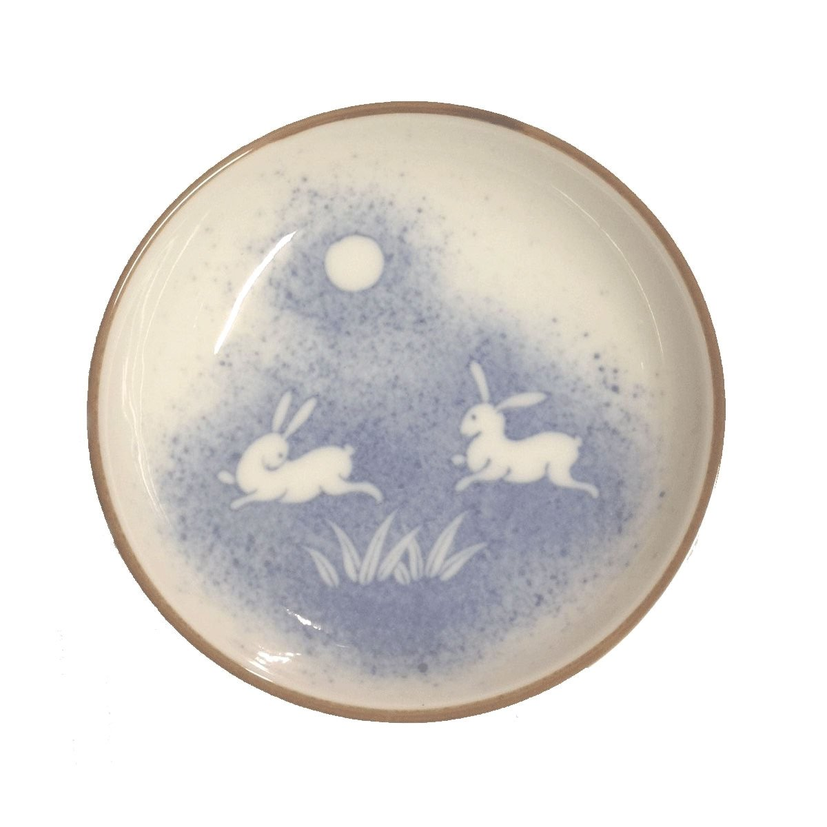 """Japanese 2.75/""""D Sushi Wasabi Soy Sauce Dipping Dishes Bowl Made in Japan 2 PCS"""