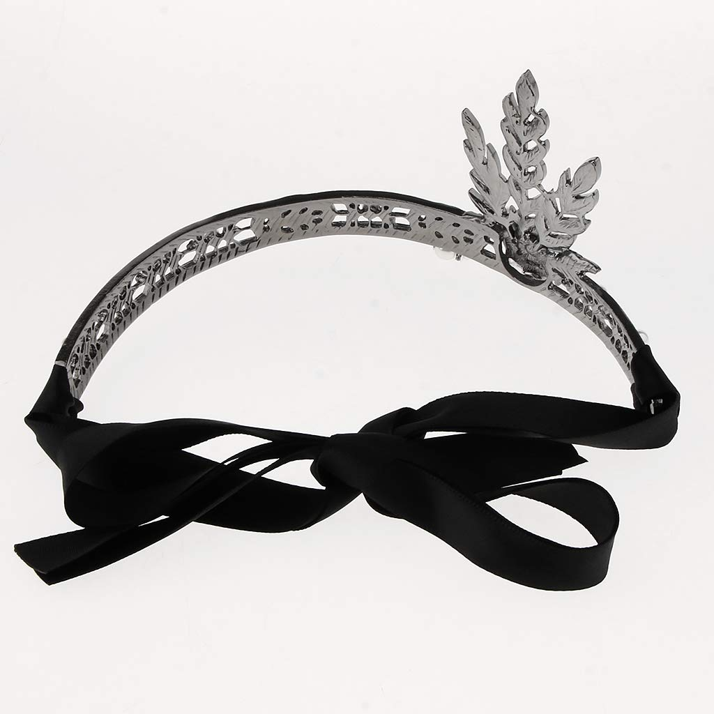 Negro B Baosity Cinta de Pelo con Diamantes Artificiales Estilo Retro Banda de Cabello Nupcial para Boda Fiesta C/óctel
