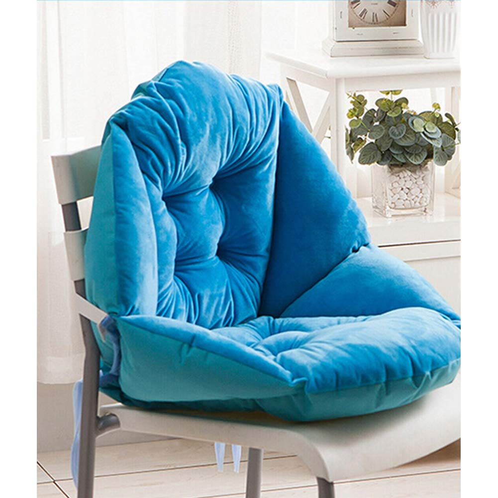 Qchomee Seat Pad Sofa Armchair Plush Pads Booster Cushion Thick Cotton Mat Car Seat Cushion with Straps Dining Room Garden Kitchen Chair Cushion Padded Cushion Chair Seat Pads