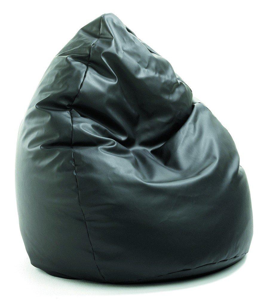 Sitzsack Aus Leder valerian sitzsack leder look schwarz ca 300 liter amazon de