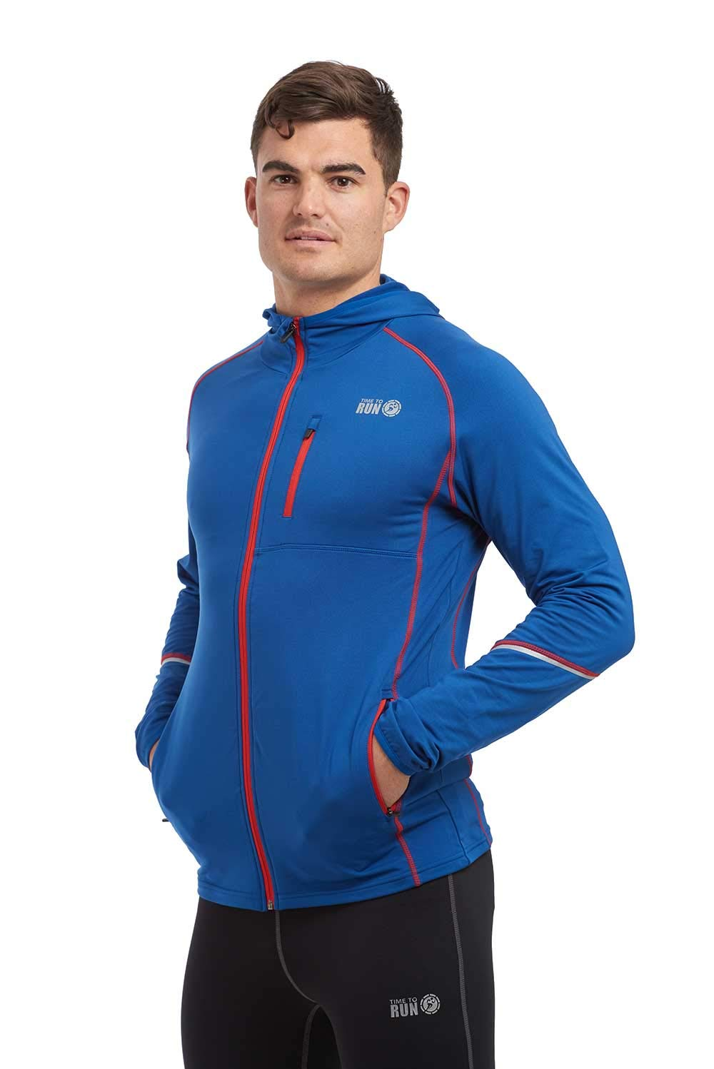 time to run Mens Thermo Running//Gym//Exercise//Workout Hoodie Jacket