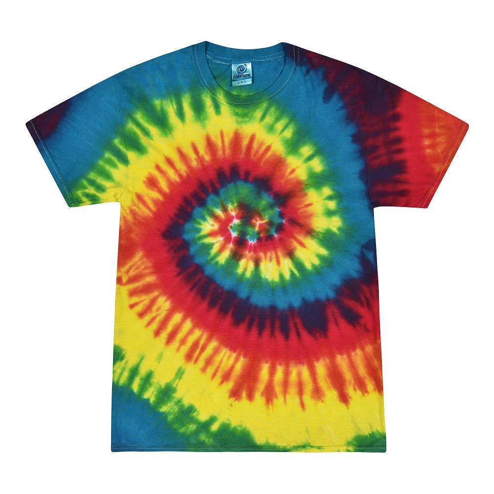 Colortone Kids Rainbow Tiedye Shirt
