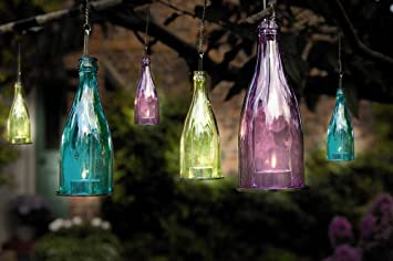 3x glass bottle candle lantern tea light tealight outdoor garden 3x glass bottle candle lantern tea light tealight outdoor garden hanging candle blue pink workwithnaturefo