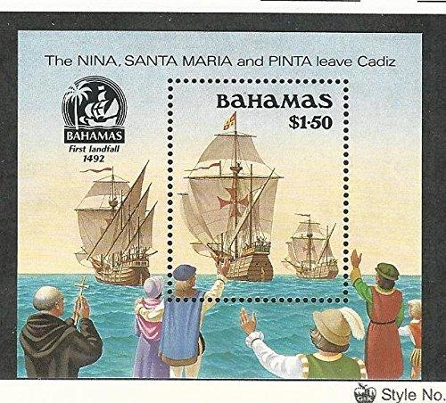 Bahamas, British, Postage Stamp, 692 Mint NH, 1988 Columbus Ship