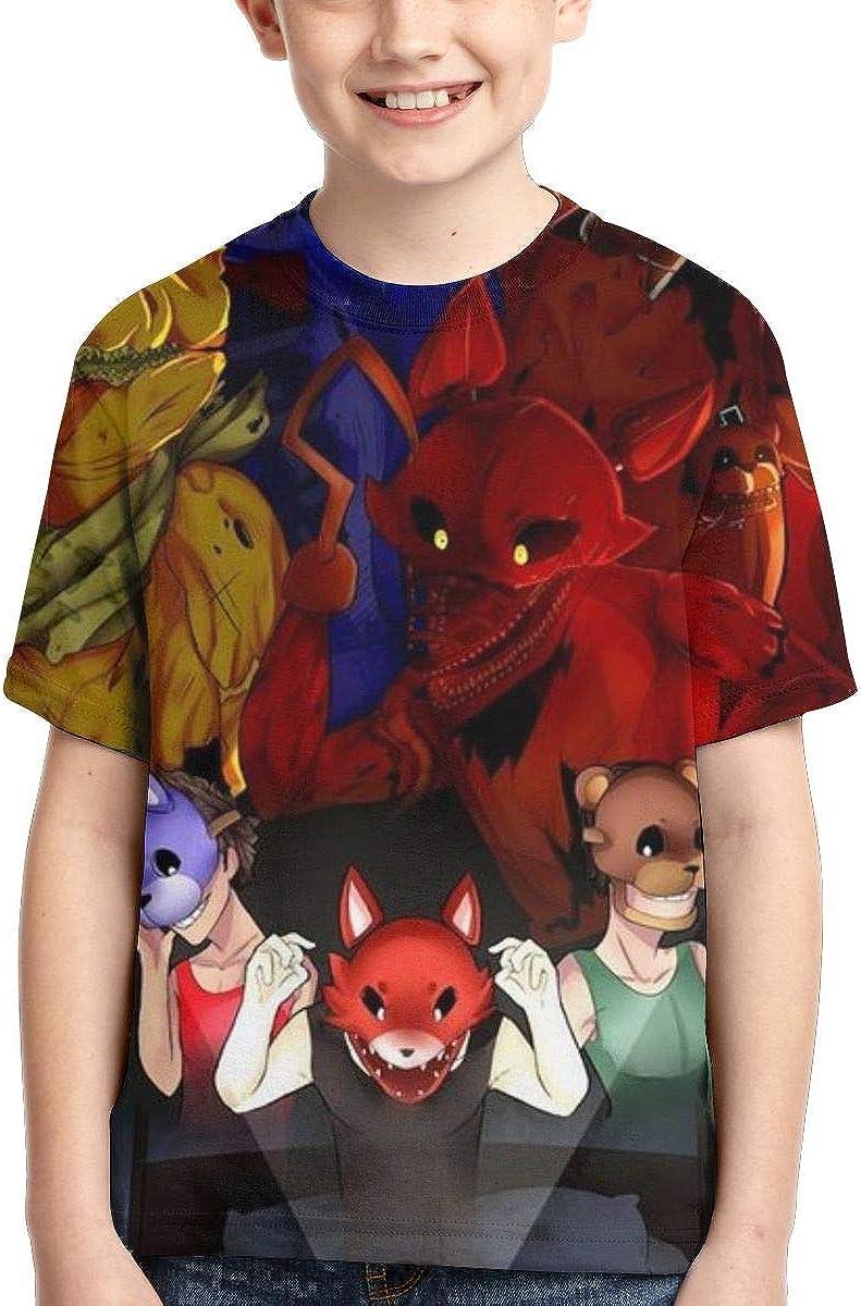 KALLYHHHAHA Five Nights at Freddys Unisex Kids Short-Sleeve T-Shirt Tee Shirt Top for Boy Girls