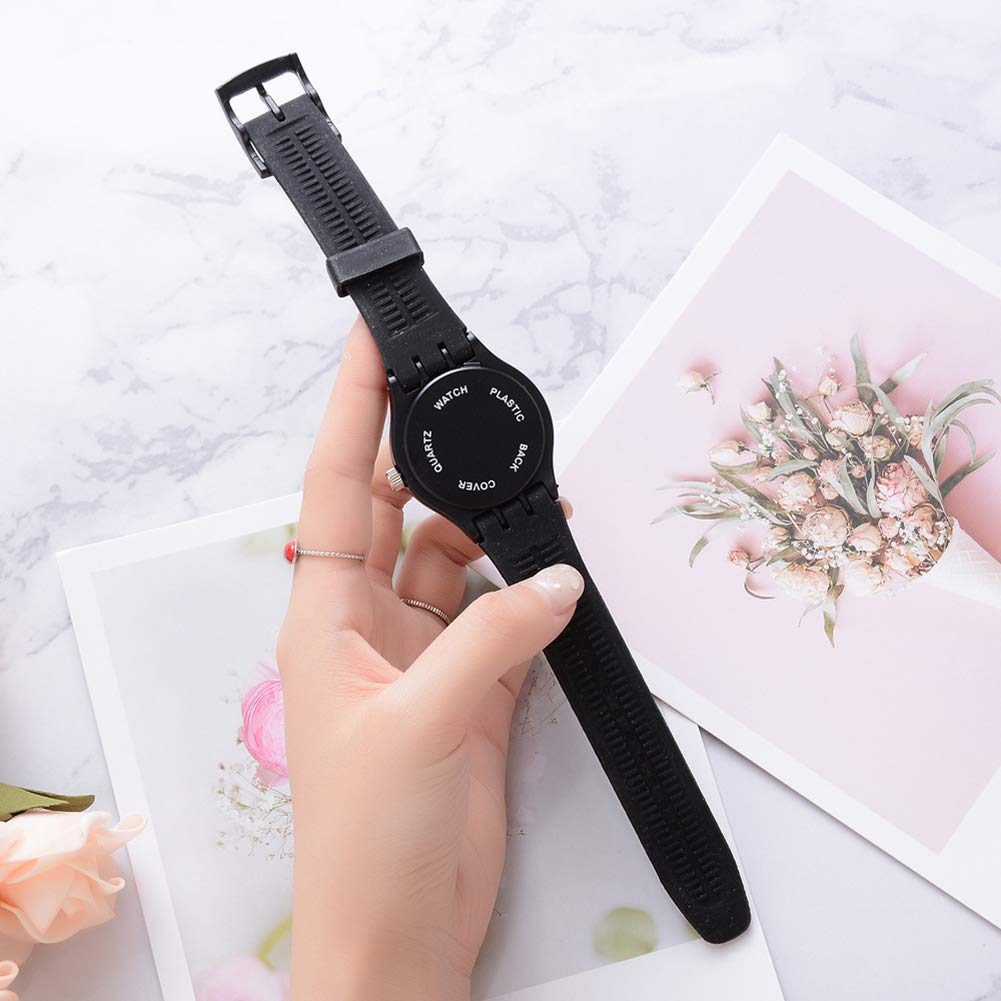Cool Boys Girls Letters Cat No Numbers Analog Quartz Silicone Band Wrist Watch by Gaweb (Image #9)