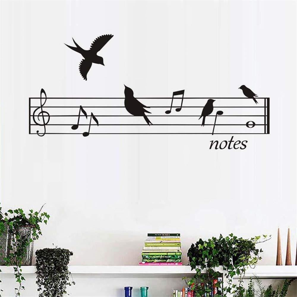 Pájaros Notas de Música Pegatinas de Pared Para la Sala de estar ...