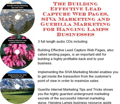 The Guerilla Marketing, Building Effective Lead Capture Web Pages, SIVA Marketing for Hanging Lamps Businesses (Hanging Lamps Lead)