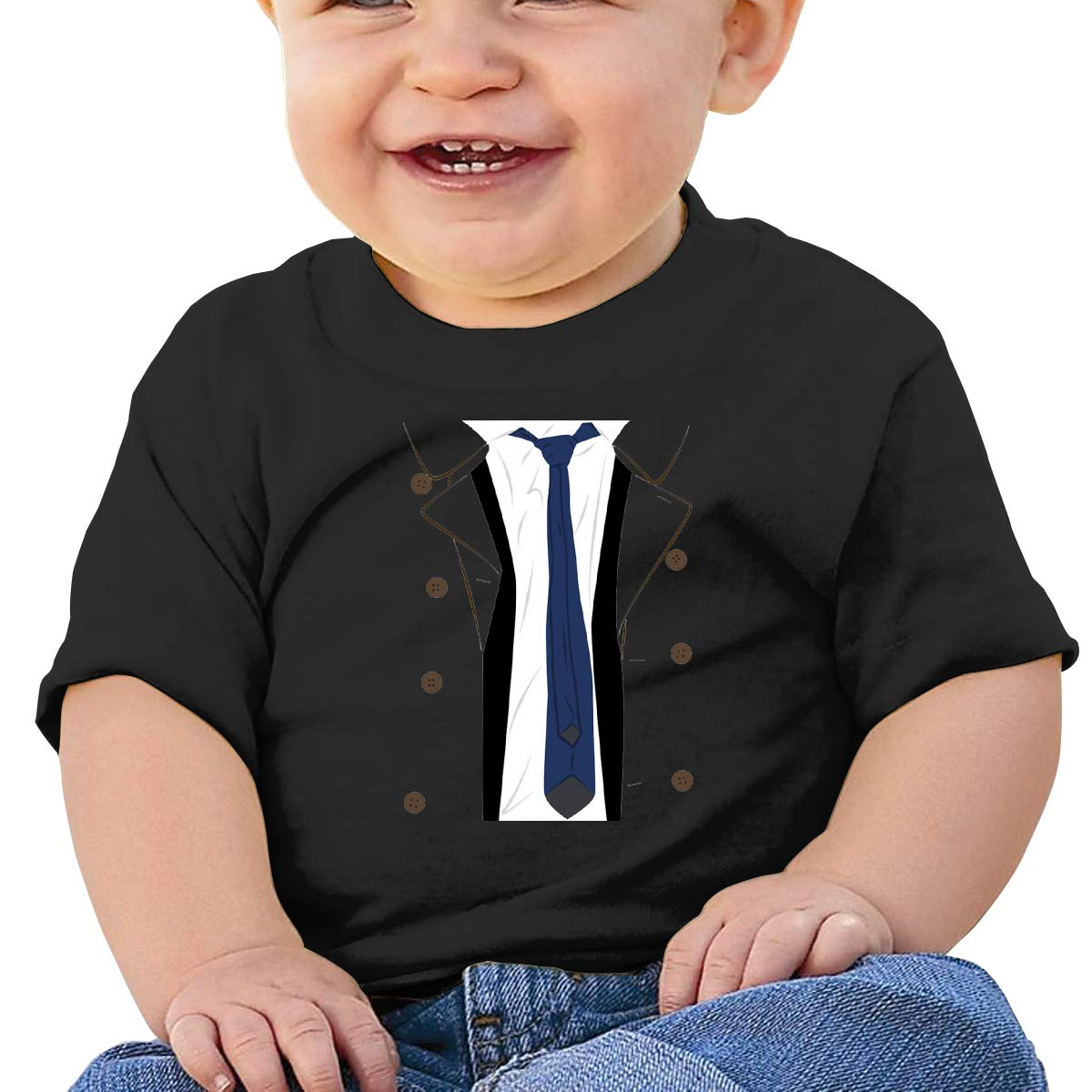 Supernatural Castiel Suit Baby T-Shirt Kids Cotton T Shirts Funny Tops for 6M-2T Baby