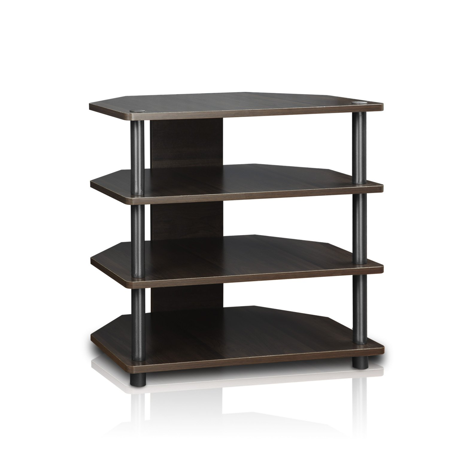Amazon Furinno Turn N Tube Easy Assembly 4 Tier Petite TV Stand 15093BW BK Blackwood Kitchen Dining