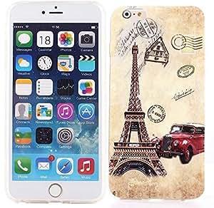 Foxnovo multi-Carcasa de TPU, protector de pantalla, diseño de Regreso caso cubrir Skin Body Armor-Carcasa para iPhone 6 Plus de 5,5 pulgadas, 16-color elefante, diseño étnico, compatible con iPhone 6 Plus
