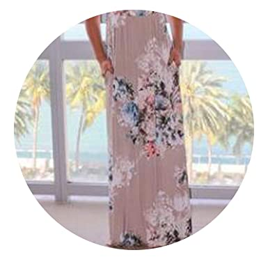 8499bebb89 Amazon.com: 2018 Summer Long Dress Floral Print Boho Beach Dress Tunic Maxi  Dress Women Evening Party Dress: Clothing