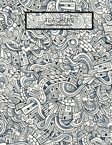 """Download Teachers Student Attendance Log: Black & White Tracker Notebook For Teachers, Record Attendance, 35 Names  Use in School, Colleges & Universities  ...  8.5""""x11"""" Paperback (Academic) (Volume 7) PDF"""