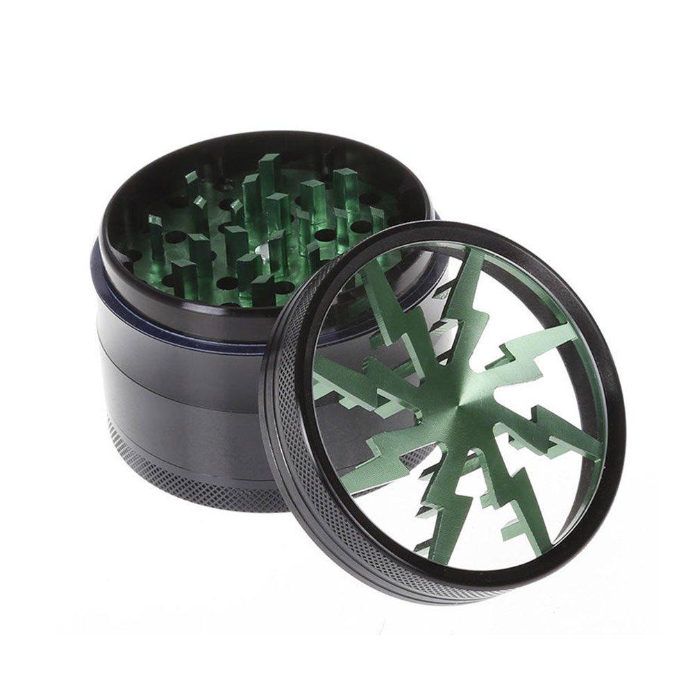 lzndeal Grinder triturador molinillo de hierbas//tabaco//Herb//Spice molinillos de tabaco trituradora de 4/capas molinillo de hierbas de jengibre de tabaco 2,5/pulgadas de aleaci/ón de aluminio morado
