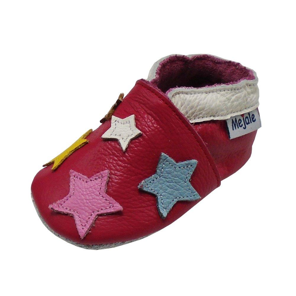 Mejale Chaussons Enfant Bébé en Cuir Doux-Chaussons Cuir Souple-Chaussures Premiers Pas-Dessin animé...