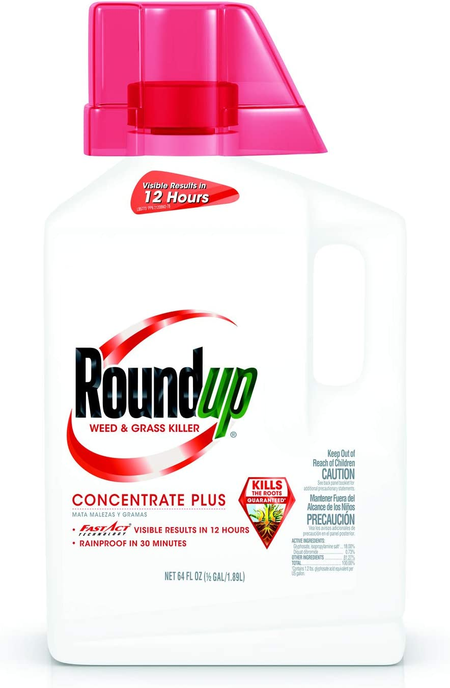 Roundup Weed & Grass Killer Concentrate Plus, 0.5 Gal