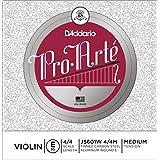 D'Addario Pro-Arte Violin Single Aluminum Wound E String, 4/4 Scale, Medium Tension
