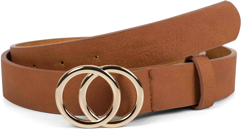 styleBREAKER cinturón de mujer monocolor con hebilla de anillo, cinturón para la cadera, cinturón para la cintura 03010093