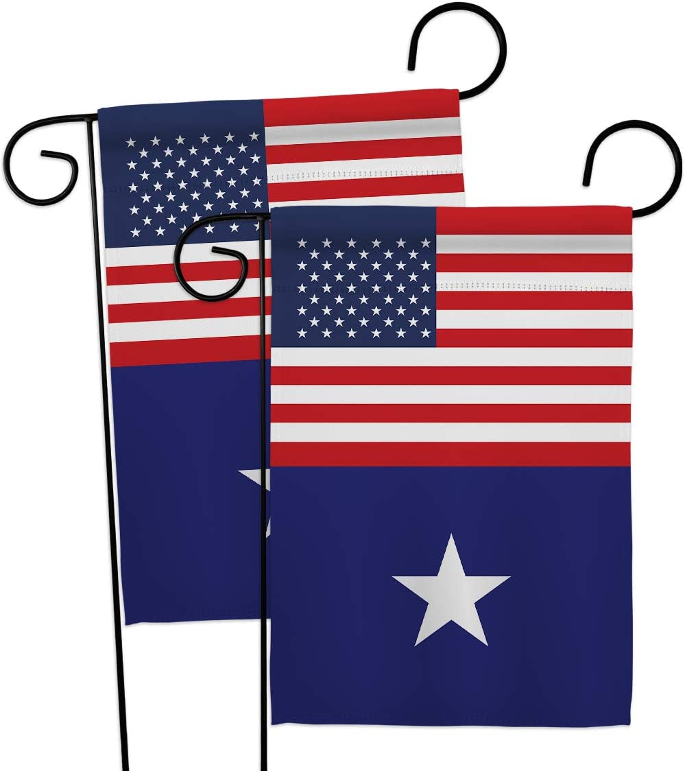 Historic US Bonnie Blue Garden Flags 2pcs Pack Patriotic July Memorial Veteran Independence United State American Small Decorative Gift Yard House Banner US Made USA 13 X 18.5