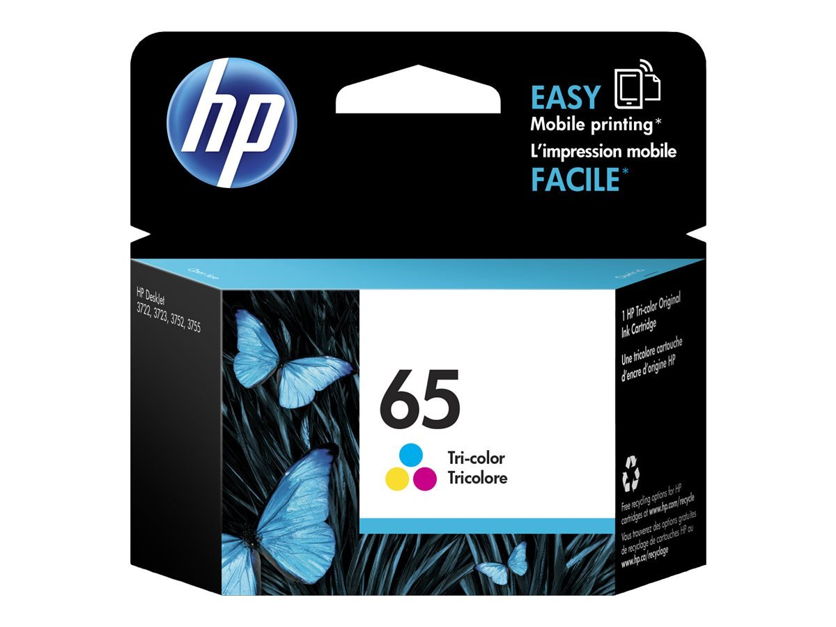 HP 65 Black Original Ink Cartridge (N9K02AN), N9K02AN#140 Hewlett Packard