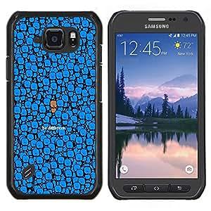 LECELL--Funda protectora / Cubierta / Piel For Samsung Galaxy S6Active Active G890A -- Azul Sea diferente Dibujo lindo del personaje --
