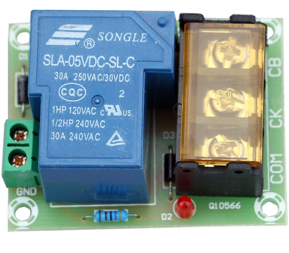 Yeeco 30a High Current Relay Output Control Module Power Schematic Normally Open Switch Closed 5v