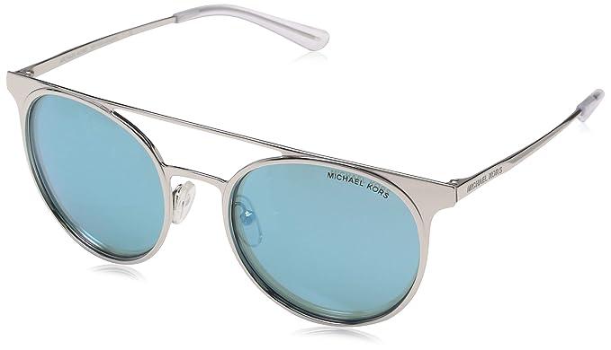 Michael Kors Ray-Ban 113725 Gafas de sol, Redondas, 52, Shiny Silver/Tone