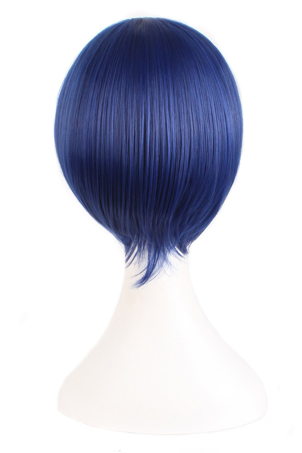 MapofBeauty 12''/30cm Short Straight Cosplay Costume Wig Party Wig (Mixed Blue) by MapofBeauty (Image #1)